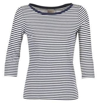 Clothing Women Long sleeved tee-shirts Vero Moda MARLEY MARINE / White
