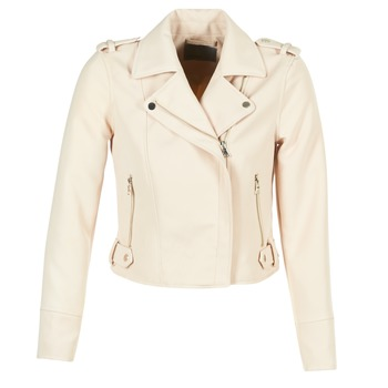Clothing Women Leather jackets / Imitation leather Vero Moda SOFIA Beige