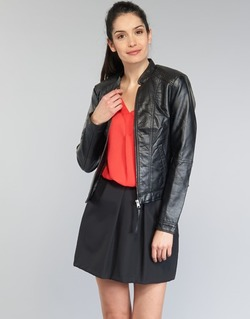 Clothing Women Leather jackets / Imitation leather Vero Moda QUEEN Black