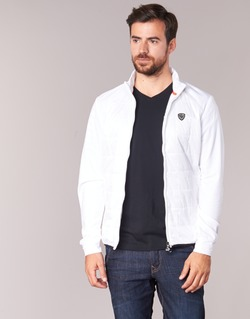Clothing Men Jackets Emporio Armani EA7 GREEN CLUB White