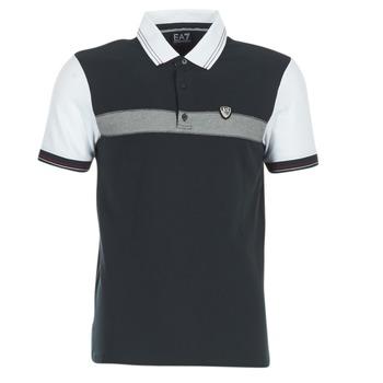 Clothing Men short-sleeved polo shirts Emporio Armani EA7 TENNIS CLASSIC MARINE / White