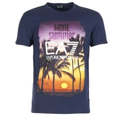 Clothing Men short-sleeved t-shirts Emporio Armani EA7 TRAIN GRAPHIC Blue