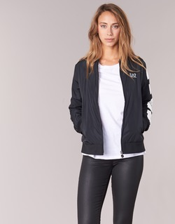 Clothing Women Jackets Emporio Armani EA7 TRAIN MASTER Black
