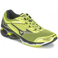 Shoes Men Low top trainers Mizuno Wave Creation 18 Black-Yellow