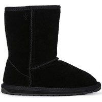 Shoes Girl Mid boots EMU WALLABY LO KIDS BLACK Nero