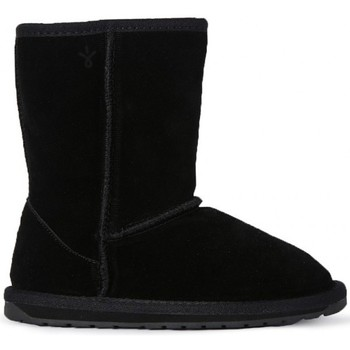 Shoes Girl Mid boots EMU WALLABY LO KIDS BLACK     74,4