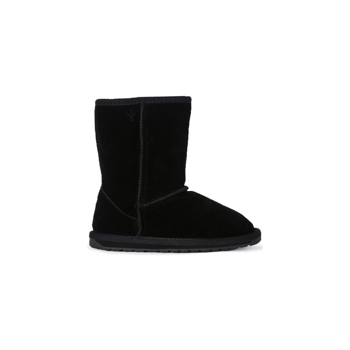 Emu Wallaby Kids Black Shoes Mid Boots