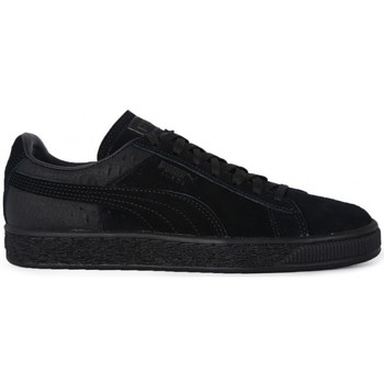 Shoes Women Low top trainers Puma SUEDE CASUAL EMBOSS Nero