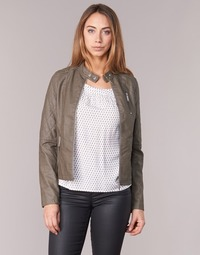 Clothing Women Leather jackets / Imitation leather S.Oliver REZATO Taupe