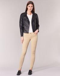 Clothing Women 5-pocket trousers Noisy May EVE Beige