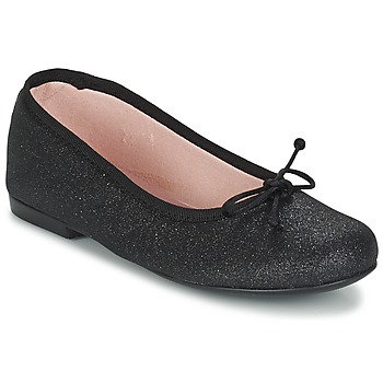 Shoes Girl Flat shoes Citrouille et Compagnie GLIGLO Black / Glitter