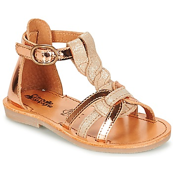 Shoes Girl Sandals Citrouille et Compagnie GITANOLO White / Coppery