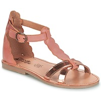 Shoes Girl Sandals Citrouille et Compagnie GUBUDU Pink / Gold