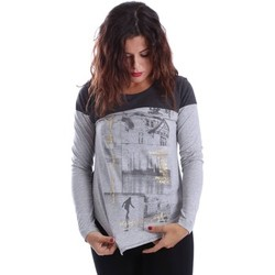Clothing Women Jackets / Cardigans Key Up SZQ9 0001 T-shirt Women Grey Grey