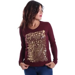 Clothing Women Jackets / Cardigans Key Up SIR1 0001 T-shirt Women Bordeaux Bordeaux