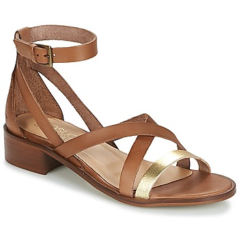 Shoes Women Sandals Casual Attitude GILDAS CAMEL / GOLD