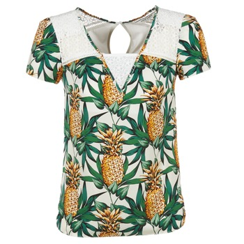 Clothing Women Tops / Blouses Naf Naf E-ANANAS White / Green
