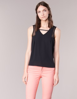 Clothing Women Tops / Sleeveless T-shirts Naf Naf OPIPA Black