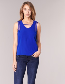 Clothing Women Tops / Sleeveless T-shirts Naf Naf OPIPA Blue