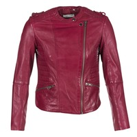 Clothing Women Leather jackets / Imitation leather Naf Naf CRISCA BORDEAUX