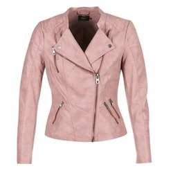 Clothing Women Leather jackets / Imitation leather Only AVA Pink