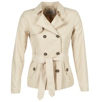 Clothing Women Trench coats Only MARIA SHORT BEIGE