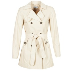 Clothing Women Trench coats Only MARIA LONG BEIGE