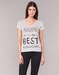 Clothing Women short-sleeved t-shirts Only MUSIC CAN CHANGE Grey