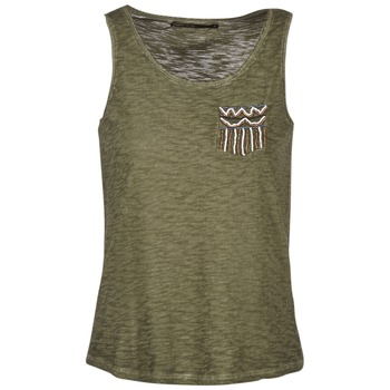Clothing Women Tops / Sleeveless T-shirts Only VIOLA KAKI