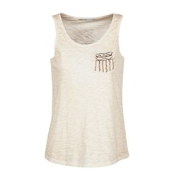Clothing Women Tops / Sleeveless T-shirts Only VIOLA BEIGE