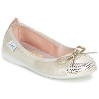 Shoes Girl Flat shoes Citrouille et Compagnie GRAGON Beige / Glitter