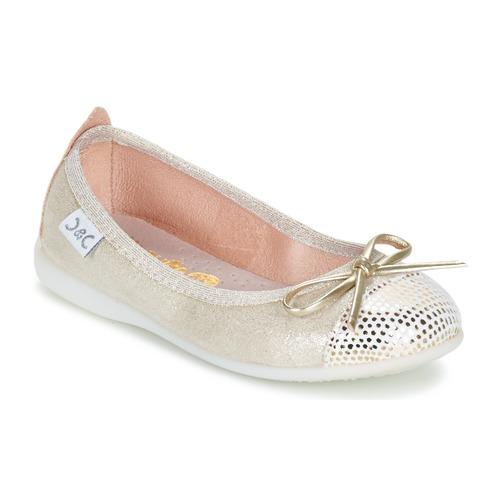 Shoes Girl Flat shoes Citrouille et Compagnie GRAGON Beige / Glitter