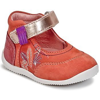 Shoes Girl Flat shoes Kickers BIMAMBO Orange / Fuschia / Pink