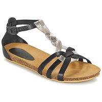 Shoes Girl Sandals Kickers BOMTARDES Silver / Black