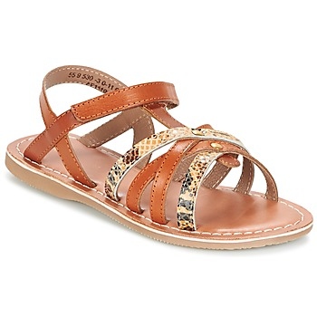 Shoes Girl Sandals Kickers FARAH CAMEL / Gold