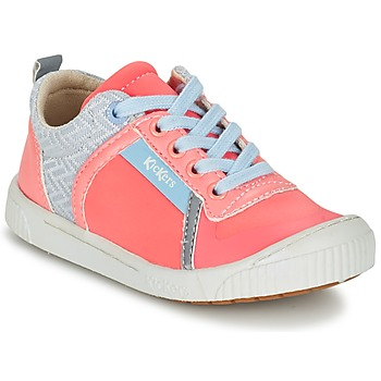 Shoes Girl Low top trainers Kickers ZIGUY Coral / Blue