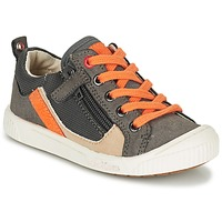 Shoes Boy Low top trainers Kickers ZIGZAGUER Grey / Orange