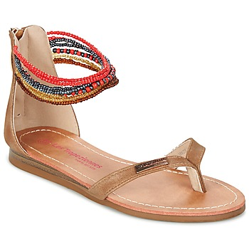 Shoes Girl Sandals Les Tropéziennes par M Belarbi GINKGO Brown