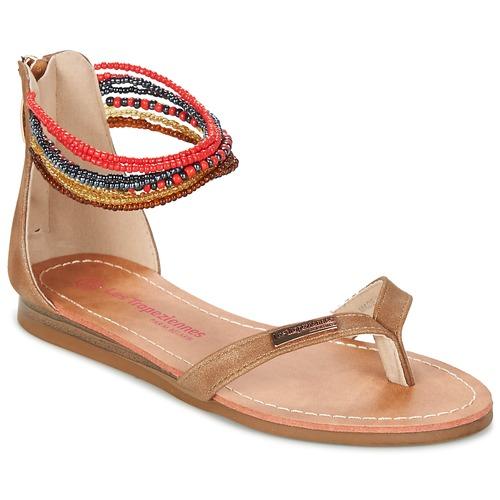 Shoes Girl Sandals Les Tropéziennes par M Belarbi GINKGO Brown