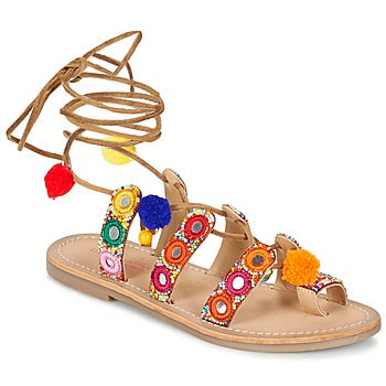 Shoes Women Sandals Les Tropéziennes par M Belarbi OREA Brown / Multicoloured