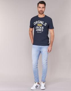 Clothing Men slim jeans Jack & Jones LIAM JEANS INTELLIGENCE Blue / Clear