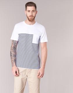 Clothing Men short-sleeved t-shirts Jack & Jones APRIL CORE White / MARINE