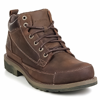 Shoes Men Mid boots Skechers REGIONS Brown