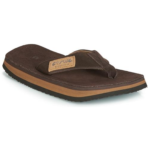 Shoes Men Flip flops Cool shoe 2LUXE Brown