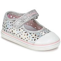 Shoes Girl Flat shoes Pablosky MEZINILE Silver