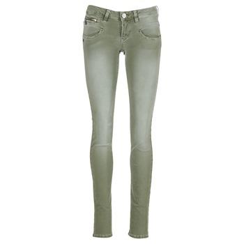Clothing Women 5-pocket trousers Freeman T.Porter ALEXA SLIM NEW MAGIC COLOR KAKI
