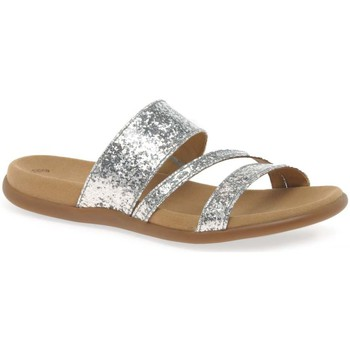 Shoes Women Mules Gabor Tomcat Modern Sporty Sandals Silver