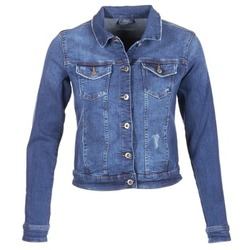 Clothing Women Denim jackets Esprit CROVETTA Blue / MEDIUM