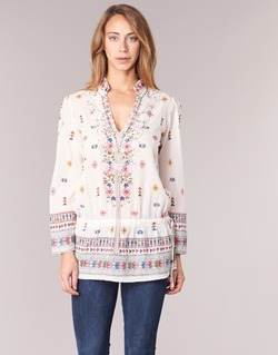 Clothing Women Tunics Derhy DETENTE White / Pink