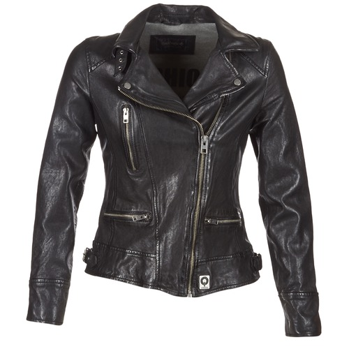 Clothing Women Leather jackets / Imitation leather Oakwood VIDEO Black